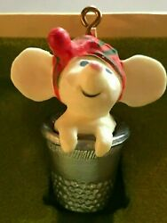 1978 Hallmark Ornament ~  Vintage Tree Trimmer Thimble Mouse