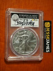 2017 W Burnished Silver Eagle Pcgs Sp70 Gary Whitley Hand Signed Label