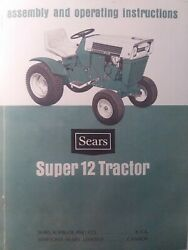 Sears Suburban Super 12 Ss/12 Garden Tractor And Engine Owners Parts 3 Manuals