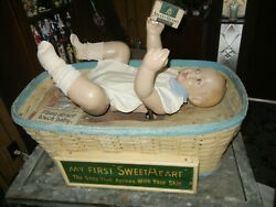 Sweetheart Soap Advertising Mechanical Baby Size Doll Store Display W/ Box