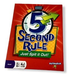 5 Five Second Rule Game Just Spit It Out Questions Answers Trivia Timer Party