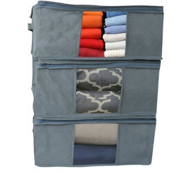 Evelots Foldable Home Closet Room Storage Organizer Bags Clearview Window