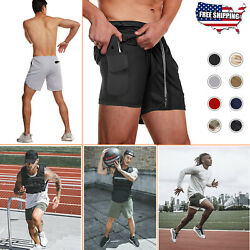 Men#x27;s Gym Sports Training Bodybuilding Workout Running Shorts Fitness Gym Pants $17.99