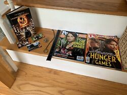 Lot Of Hunger Games Book People And Us Magazine Posters Cards Pin Necklace