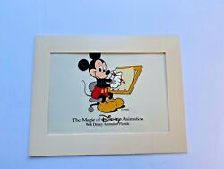 The Magic Of Disney Animation Series Cel Mickey Mouse At The Drafting Table Rare