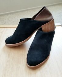 ALL BLACK Brand $150 Designer Low Ankle Booties Shoes Black Brown Leather Suede $24.00