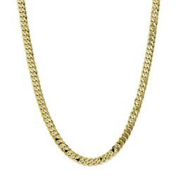 10k Yellow Gold 7.25mm Flat Beveled Curb Chain Bracelet Or Necklace 10fbu180