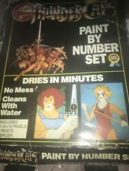 Thundercats Paint By Number Box Paint Set With Box And Two 8x10 Panels