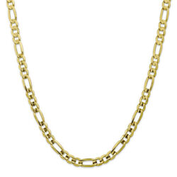 10k Yellow Gold 7.5mm Light Figaro Chain Bracelet Or Necklace 10lf200