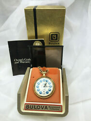 1976and039s Vintage Bulova Bicentennial Collection Pocket Watch In Original Boxes