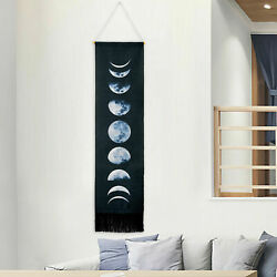 USA Black Moon Phase Lunar Display Tapestry Wall Hanging Home Wall Art Gifts