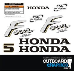 Honda Bf5 5hp 4 Stroke Outboard Engine Decals/sticker Kit