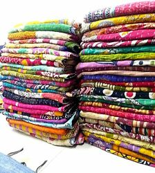 Assorted Indian Tribal Kantha Quilts Vintage Cotton Bed Cover Throw Patches Made