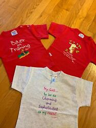 Vintage Spencers Baby 12 Month T-shirt Red Funny Lot 2 Jibber Jabbers 100 Cott