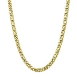 10k Yellow Gold 8mm Flat Beveled Curb Chain Bracelet Or Necklace 10fbu200