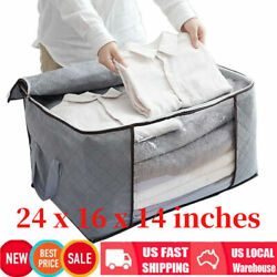 Foldable Large Non woven Clothes Quilt Blanket Zipper Storage Bag Organizer Home