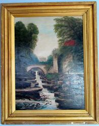 Walter Field 1837-1901 Authentic Antique British Large Oil Painting Signed
