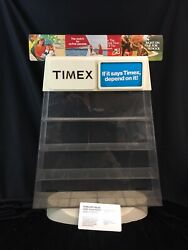 Timex Vintage Store Display Case Watch Counter Sign Advertising Acrylic No.32