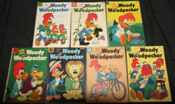 Vintage Golden Age Dell Woody Woodpecker Comic Lot 14pc Vg-f+