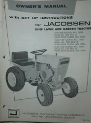Jacobsen Chief Lawn Garden Tractor And 42 Mower 53936 Owners 2 Manuals Ford 120