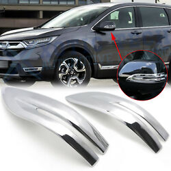 Chrome Side Rearview Mirror Stripe Cover Trim For Honda Cr-v Crv 2017-2020 2021