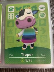 Tipper 129 Animal Crossing Amiibo Card New - Never Scanned