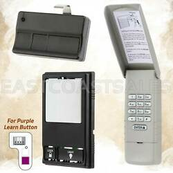 For Liftmaster Sears Garage Door Keypad 377lm + Visor Remote 373lm + Wall 78lm