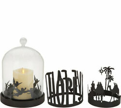 Luminara Glass Cloche with 5quot; Candle and 3 Removable Rings