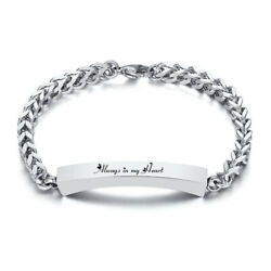 Personalized Women Bracelet Ash Urn Memorial Always in my Heart Gift Stainless $12.79