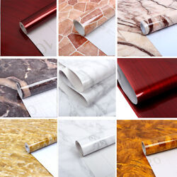 3D Vinyl Marble Self adhesive Contact Paper Peel And Stick Home Decor Wallpaper