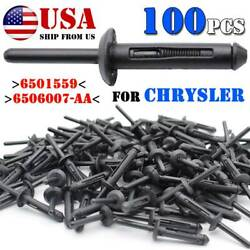100pcs Plastic Pop Blind Rivets Clip Wheel Arch Side Skirts Sill Cover Fastener