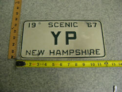 1967 67 New Hampshire Nh Vanity License Plate Yp