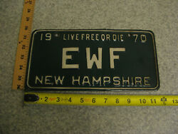 1970 70 New Hampshire Nh Vanity License Plate Ewf Earth Wind Fire Band Music