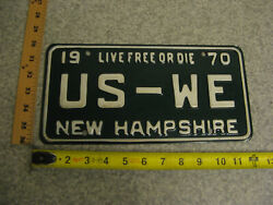 1970 70 New Hampshire Nh Vanity License Plate Us-we All Of Us