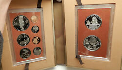 1974 Cook Islands Captain James Cook 2 Silver Of 9 Coin Antique Proof Set I76405