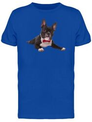 French Bulldog Puppy With Bow Tee Men's -Image by Shutterstock $12.99