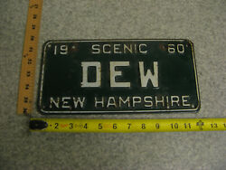 1960 60 New Hampshire Nh Vanity License Plate Dew Mountain Dew Soda Soft Drink