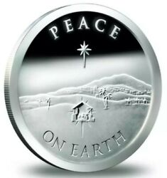 1 Oz .999 Pure Silver Shield Proof Christmas Special Edition Round Coin Sbss Coa