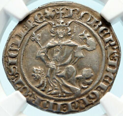 1309-43 Italy Naples King Robert Dand039anjou Antique Medieval Silver Coin Ngc I83760