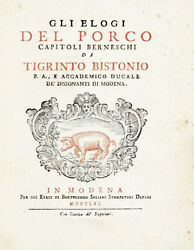1761 The Witty Apology Of The Pig Cured Meats And Sausage