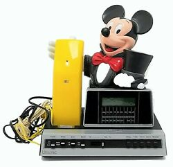 Vintage Mickey Mouse Telephone With Am/fm Alarm Clock Radio - Fully Tested