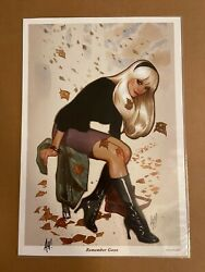 Adam Hughes Gwen Stacy Spider-gwen 1 Art Print Sdcc - Signed - Sold Out