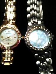 2 Retro Fossil and Armitron Watches Both work New Batteries $29.95