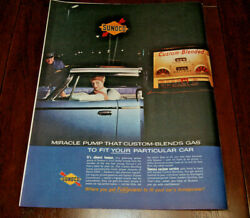 Vintage 1961 Print Ad Advertisement Art Poster Sunoco Gas And Oil 260 10 X 13 Orig