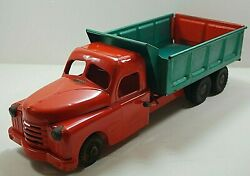 Structo 1950's Toys Dump Truck Hydraulically Operated Pressed Steel Vintage 21''