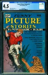 Funny Picture Stories 4 Cgc 4.5 1937-rare Comic Book-will Eisner