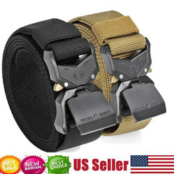 JASGOOD Men Military Tactical Belt Rigger Nylon Belt with Quick-Release Buckle $12.98