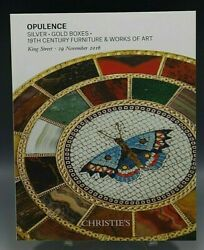 Christieand039s Catalog Opulence Silver Gold Boxes 19th Century Furniture 11/29/2016