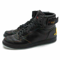 Pre-owned Authentic Louis Vuitton Menand039s Sneakers Color Black Uk7 Calf Cowhide