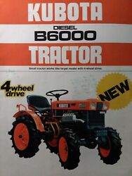 Kubota B6000 Diesel Compact 4x4 And 2wd Tractor And Implements Color Sales Brochure